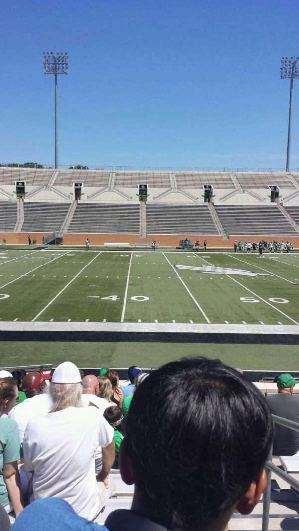 Apogee Stadium, section: 106, row: 12, seat: 1