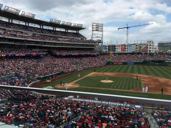 Nationals Park, section: 219, row: a, seat: 12