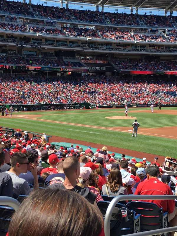 Nationals Park, section: 133, row: AA, seat: 18