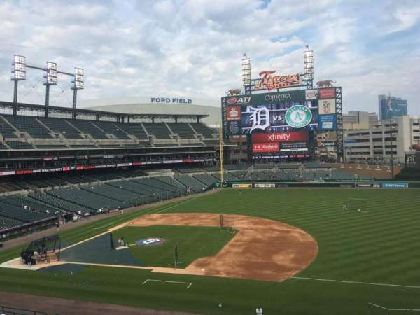 Comerica Park, section: 219, row: A, seat: 1