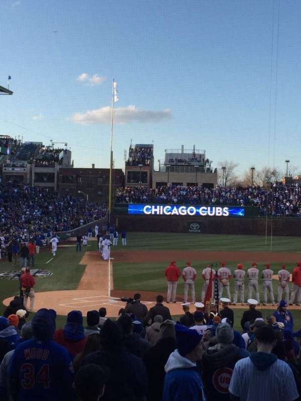 Wrigley Field, section: 121, row: 6, seat: 12