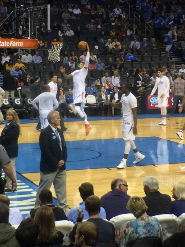 Chesapeake Energy Arena, section: 107, row: E, seat: 15