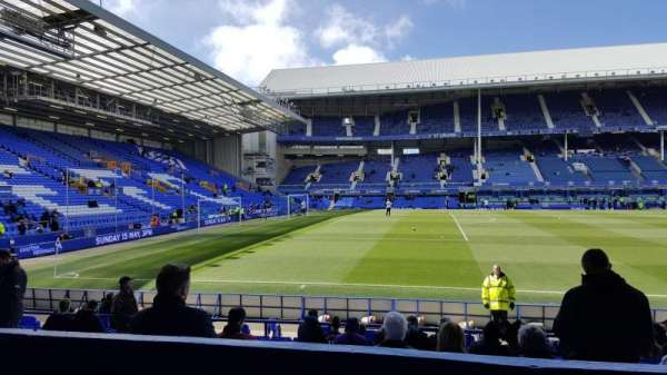 Goodison Park, section: LV, row: B, seat: 70