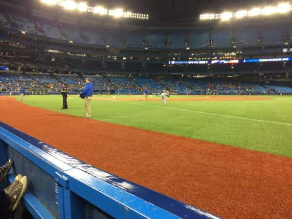Rogers Centre, section: 113BR, row: 1, seat: 1