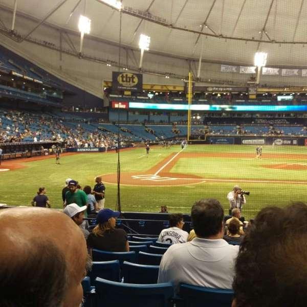 Tropicana Field, section: 110, row: Q, seat: 5