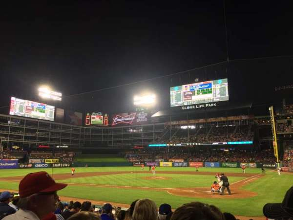 Globe Life Park in Arlington, section: 23, row: 10, seat: 4