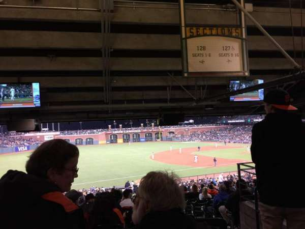 Oracle Park, section: 128, row: 41, seat: 1
