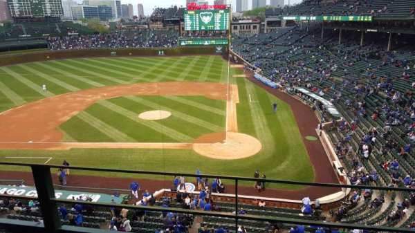 Wrigley Field, section: 313L, row: 2, seat: 12
