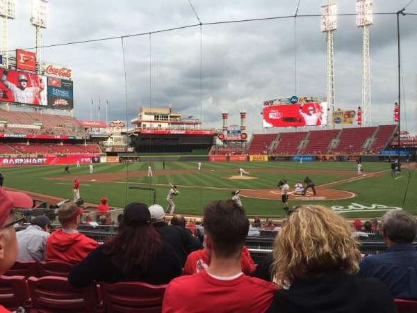 Great American Ball Park, section: 121, row: R, seat: 1
