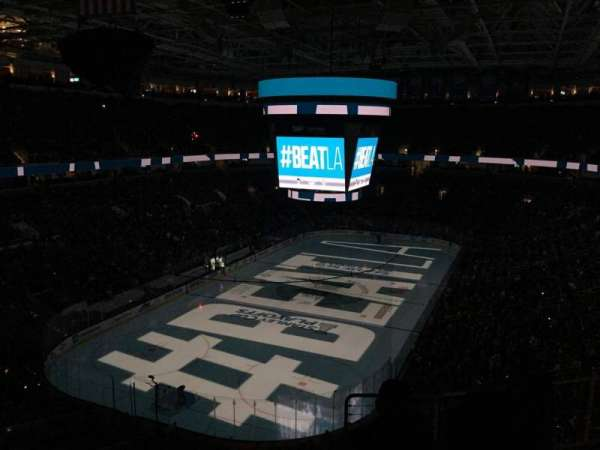 SAP Center, section: 220, row: 8, seat: 12