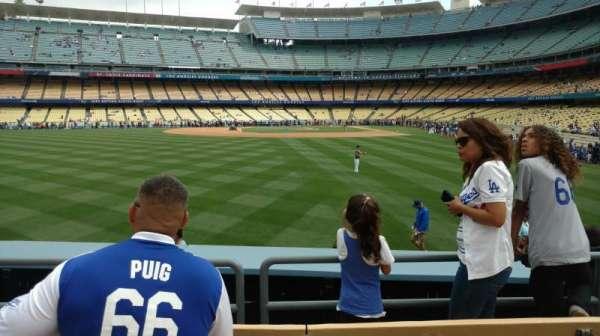 Dodger Stadium, section: 303PL, row: D, seat: 9