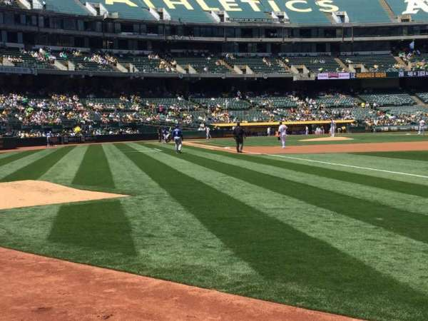 Oakland Coliseum, section: 105, row: 1, seat: 13