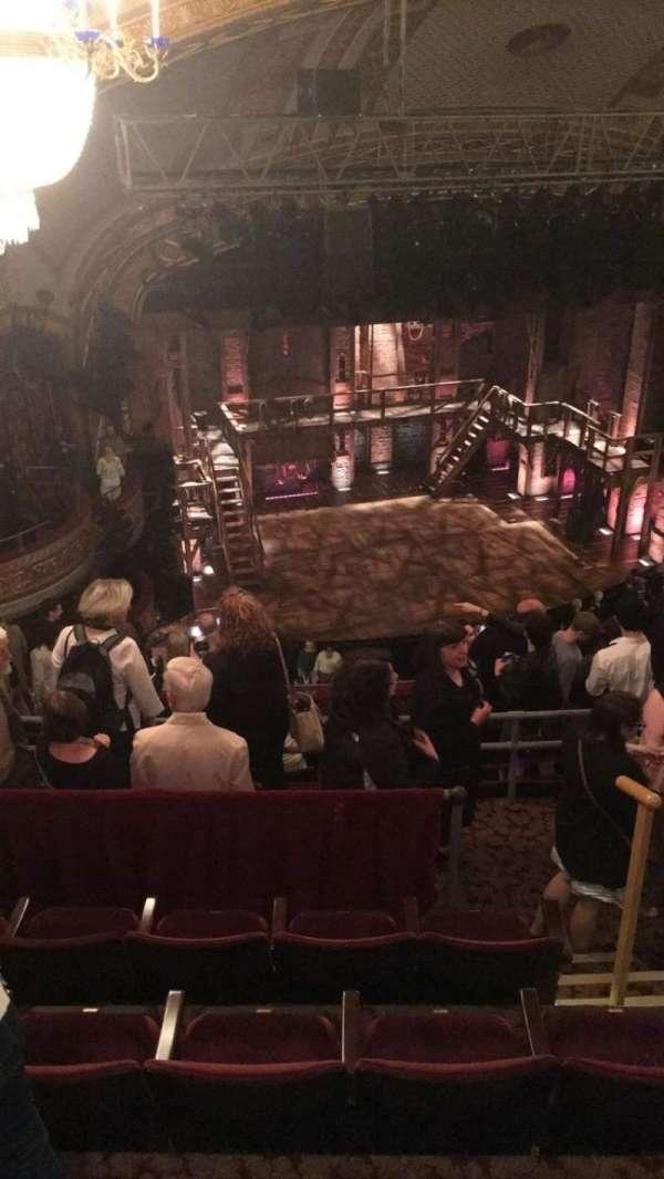 Richard Rodgers Theatre, section: Rear Mezzanine L, row: L, seat: 19