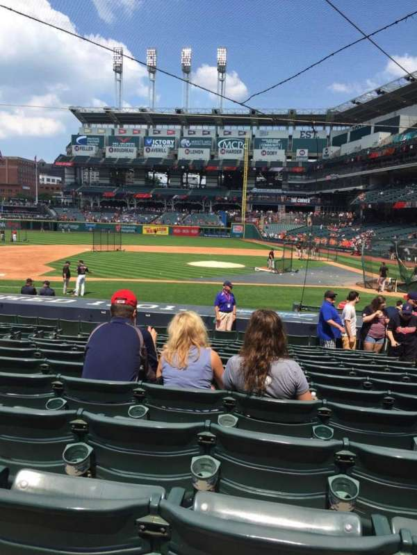 Progressive Field, section: 160, row: U, seat: 4