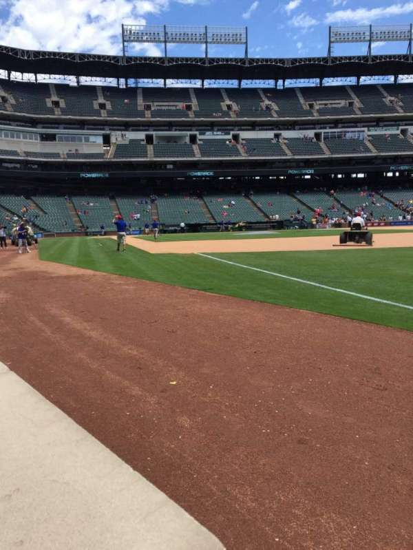 Globe Life Park in Arlington, section: 38, row: 1, seat: 6