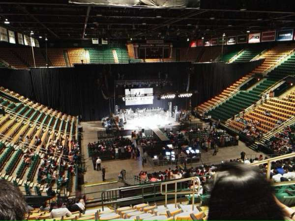EagleBank Arena, section: 110, row: v
