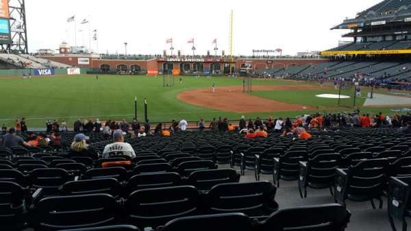 Oracle Park, section: 126, row: 30, seat: 18