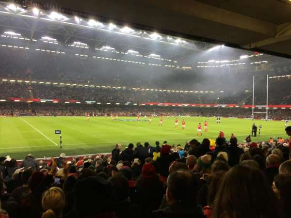 Principality Stadium, section: L11, row: 20, seat: 6