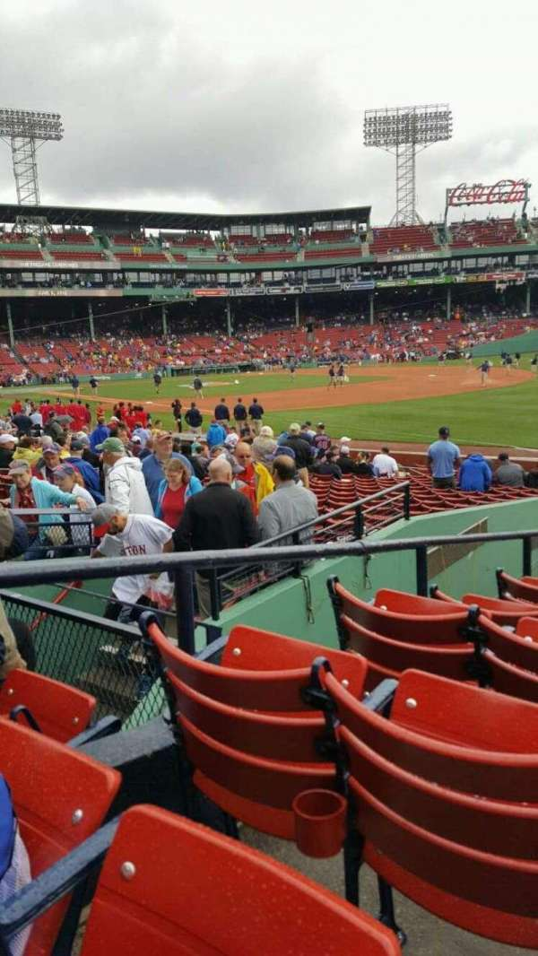 Fenway Park, section: Right Field Box 97, row: LL, seat: 10