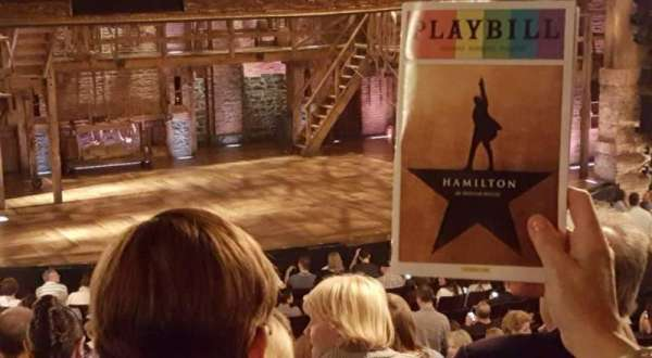 Richard Rodgers Theatre, section: Orchestra L, row: V, seat: 23