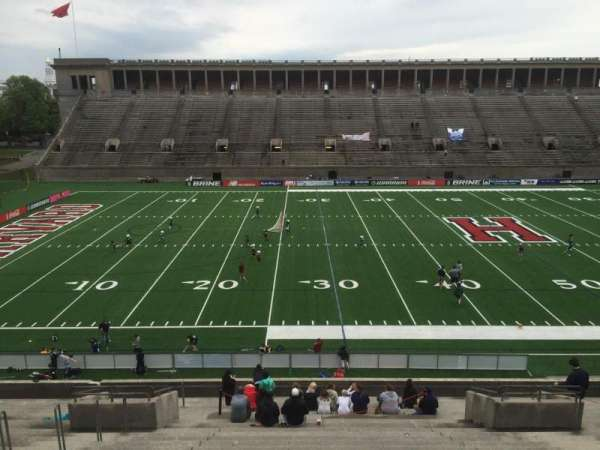 Harvard Stadium, section: 33, row: LL, seat: 12