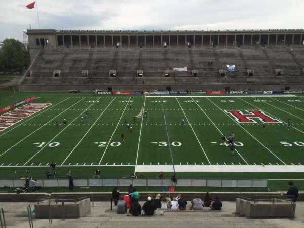 Harvard Stadium, section: 33, row: LL, seat: 12