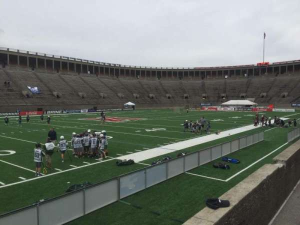 Harvard Stadium, section: 34, row: M, seat: 20