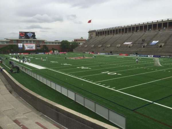 Harvard Stadium, section: 25, row: Q, seat: 8