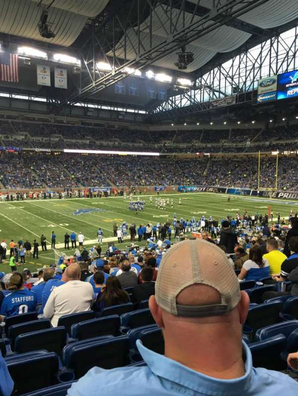 Ford Field, section: 105, row: 13, seat: 5
