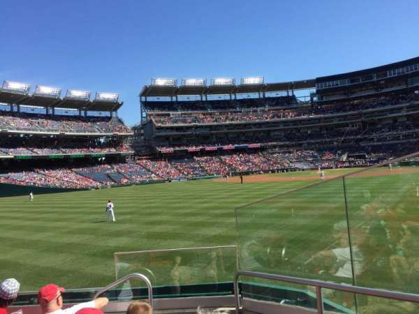 Nationals Park, section: 100, row: E, seat: 2