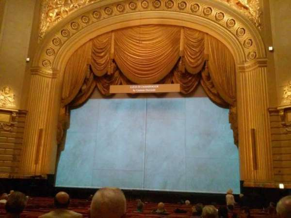 War Memorial Opera House, section: Orchestra, row: U, seat: 116