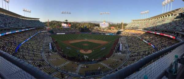 Dodger Stadium, section: 1RS, row: A, seat: 12