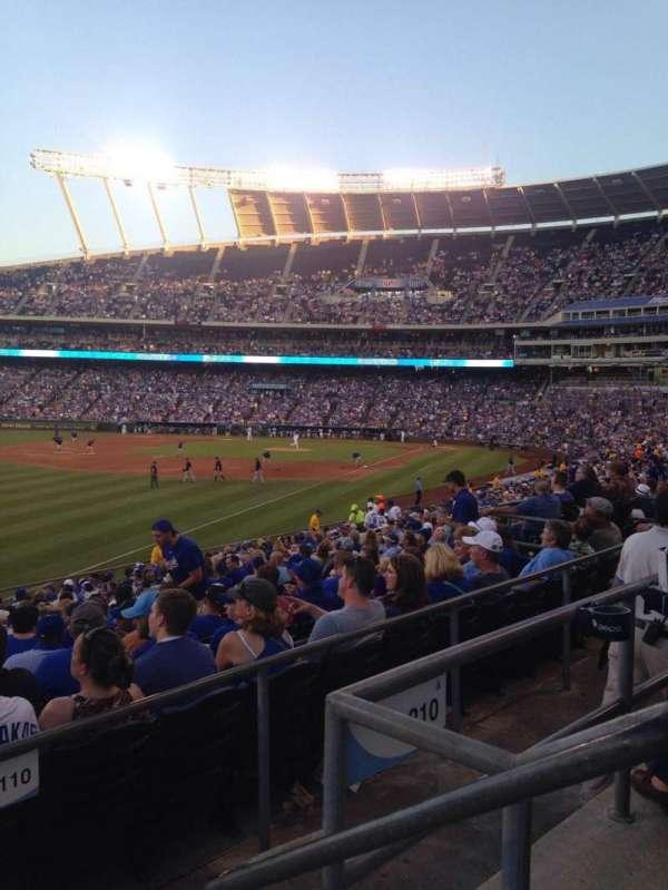 Kauffman Stadium, section: 209, row: Bb, seat: 12