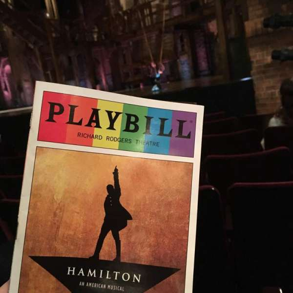 Richard Rodgers Theatre, section: Orchestra R, row: E, seat: 16