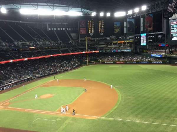 Chase Field, section: 307, row: 1, seat: 13