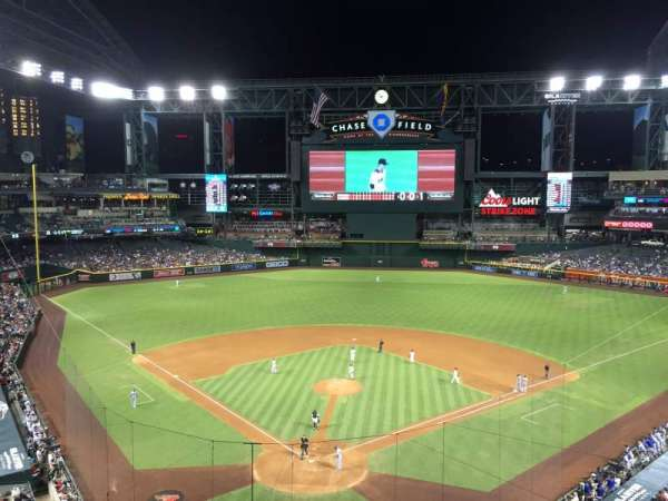 Chase Field, section: 315, row: 1, seat: 14