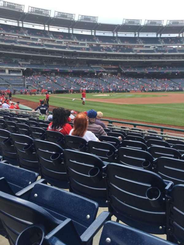 Nationals Park, section: 133, row: K, seat: 6