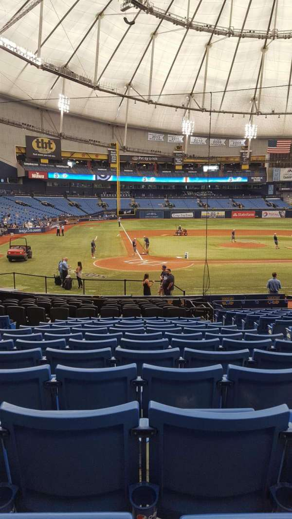 Tropicana Field, section: 108, row: X, seat: 6