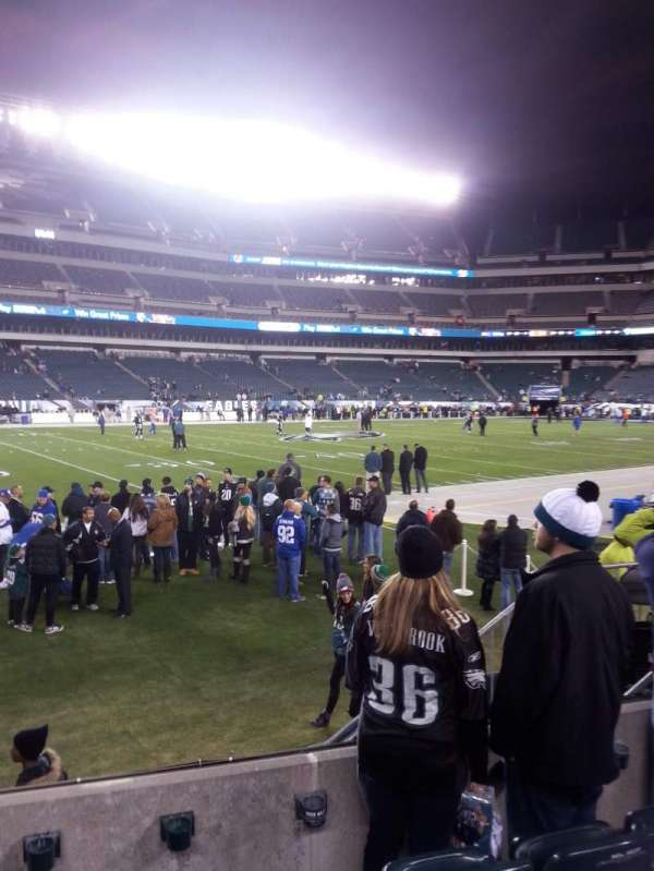 Lincoln Financial Field, section: 136, row: 4, seat: 6