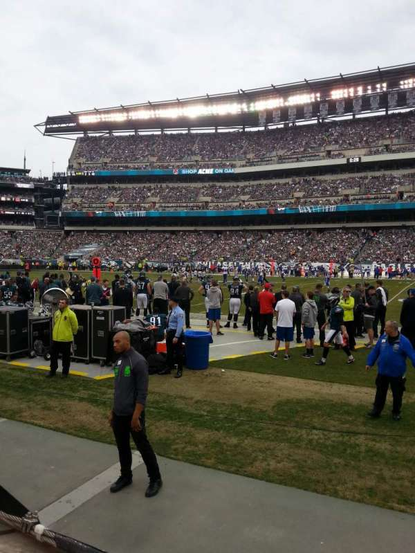 Lincoln Financial Field, section: 103, row: 1, seat: 16