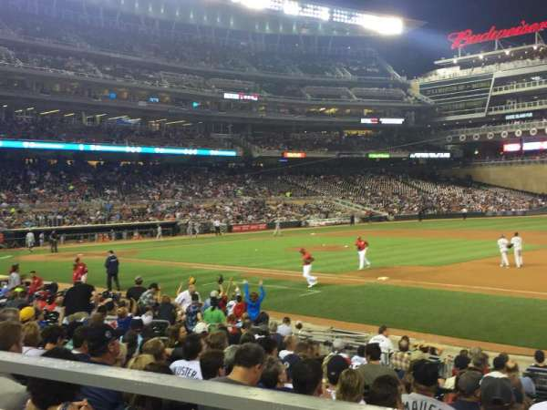 Target Field, section: 106, row: 1, seat: 8