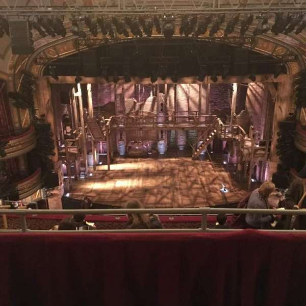 Richard Rodgers Theatre, section: Rear Mezzanine C, row: B, seat: 108