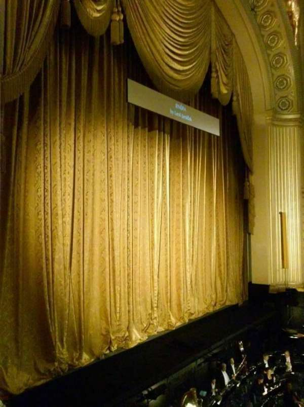 War Memorial Opera House, section: Box A, seat: 6