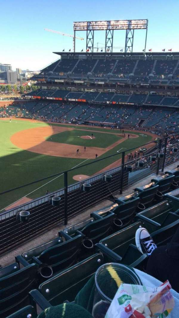 Oracle Park, section: VB331, row: C, seat: 18