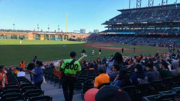 Oracle Park, section: 130, row: 22, seat: 2
