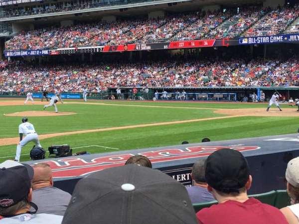 Progressive Field, section: 164, row: K, seat: 5