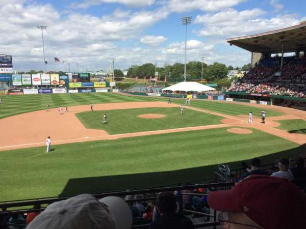 McCoy Stadium, section: 12, row: DD, seat: 4
