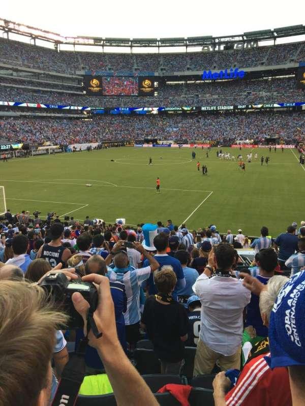 MetLife stadium, section: 123, row: 21, seat: 16