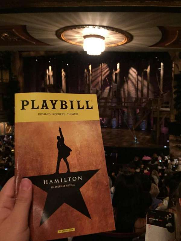 Richard Rodgers Theatre, section: Orchestra R, row: R, seat: 10