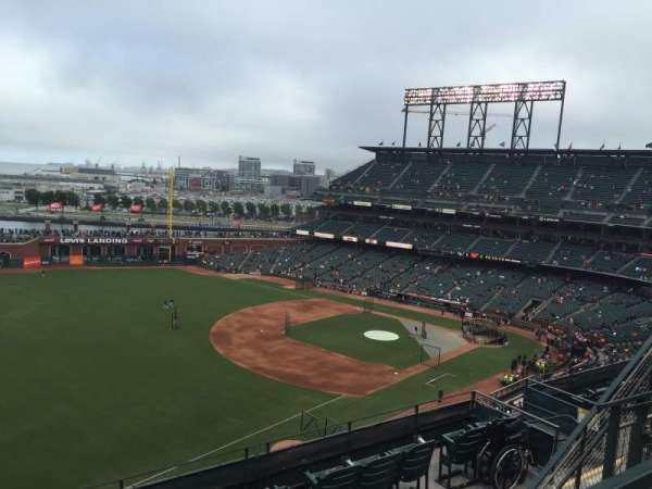 Oracle Park, section: VR330, row: 2, seat: 14